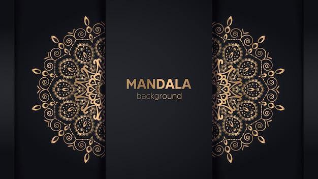Luxuriöser dekorativer mandala-designhintergrund