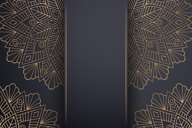 Luxuriöser dekorativer mandala-hintergrund in goldfarbe.