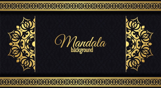 Luxuriöser dekorativer mandalahintergrund mit arabischer islamischer ostmusterartprämie