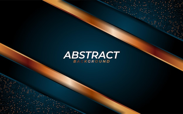 Luxuriöser dunkelblauer hintergrund mit dynamischer textur und kombination mit geometrischen linien
