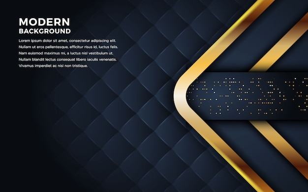 Luxuriöser dunkler hintergrund mit goldenen linien kombination.