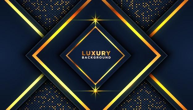 Luxuriöser dunkler hintergrund mit goldfunkeln