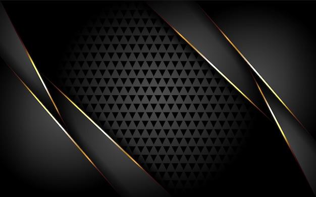 Luxuriöser dunkler hintergrund mit goldlinien