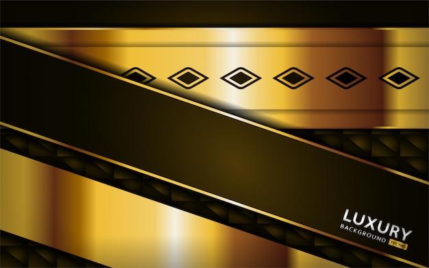 Luxuriöser erstklassiger goldener brauner abstrakter hintergrund mit goldenen linien.