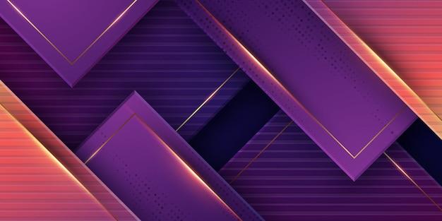 Luxuriöser geometrischer hintergrund mit lila farbe.