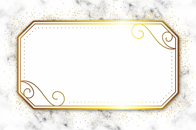Luxuriöser goldener rahmen mit ornamenten