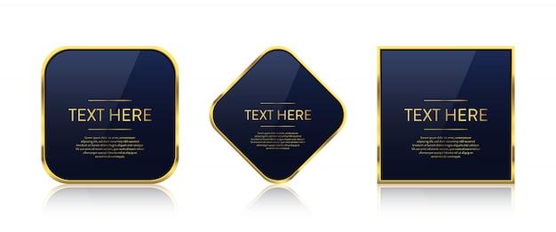 Luxuriöser goldener rahmen mit textschablone