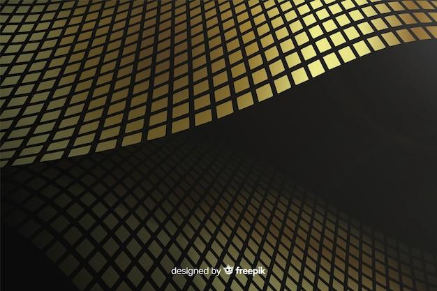 Luxuriöser goldener wellenhintergrund