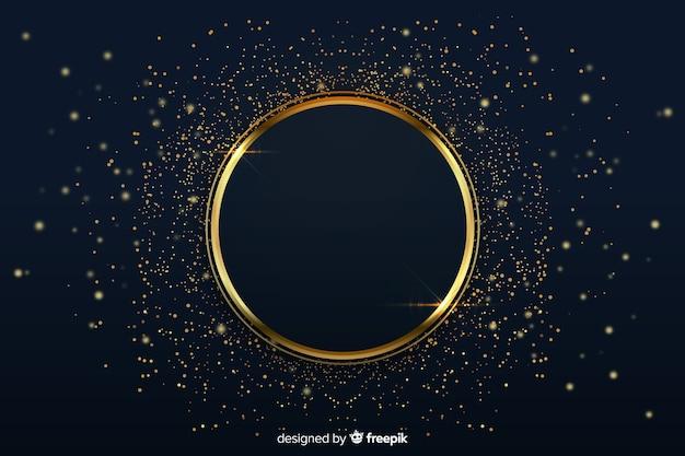 Luxuriöser hintergrund mit goldenem ring