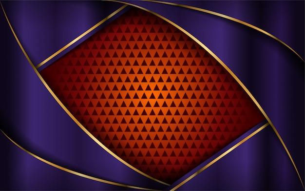 Luxuriöser purpurroter und orange hintergrund