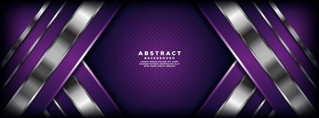 Luxuriöser purpurroter und silberner überlappungsschicht-fahnenhintergrund