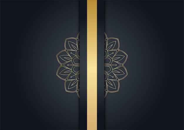 Luxuriöser schwarzer und goldener abstrakter hintergrund. kreatives goldenes dynamisches diagonales linienmuster. formaler premium-vektorhintergrund für geschäftsbroschüre, poster, notizbuch, menüvorlage