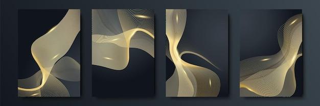 Luxuriöser schwarzer und goldener hintergrund. design für social-media-vorlage, grußkarte, geschäft, präsentation, einladung, banner und zertifikat