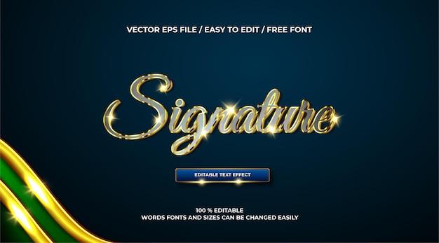 Luxuriöser signaturtext-effekt