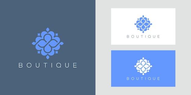 Luxuriöses blumenmuster-logo, das inspiriert