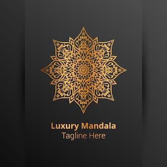 Luxuriöses dekoratives mandala-logo im arabeskenstil.