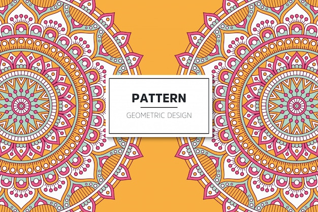 Luxuriöses dekoratives mandala-musterdesign