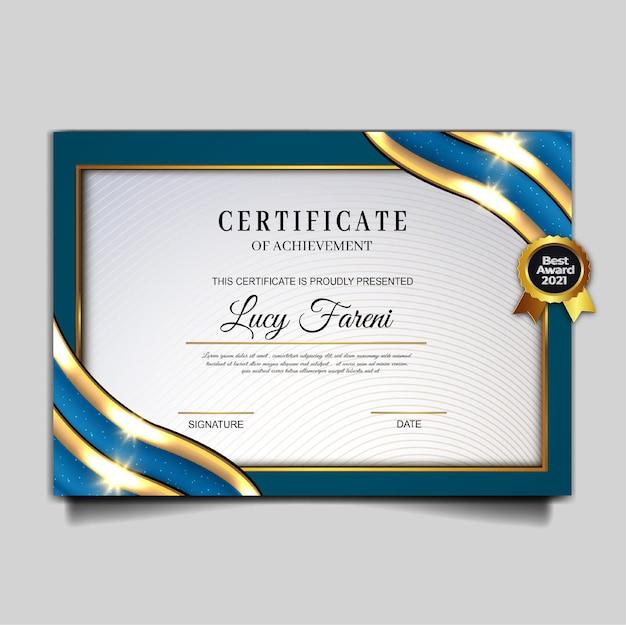 Luxuriöses design für schöne zertifikatsleistung