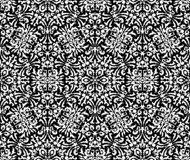 Luxuriöses design mit filigranem muster seamless vector templateschwarz-weiß-dekorative textur