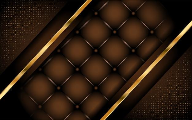 Luxuriöses dunkelbraunes hintergrunddesign