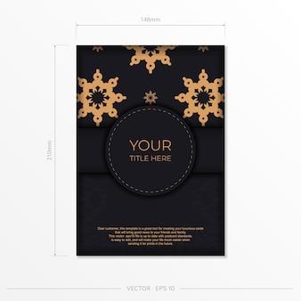 Luxuriöses einladungskartendesign mit abstrakter vintage-verzierung. kann als hintergrund und tapete verwendet werden. elegante und klassische vektorelemente eignen sich hervorragend zur dekoration.