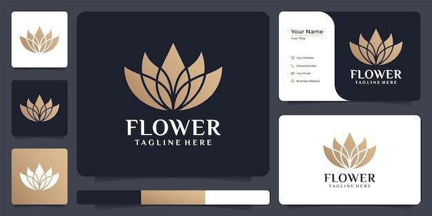 Luxuriöses, feminines lotus-spa-logo-design