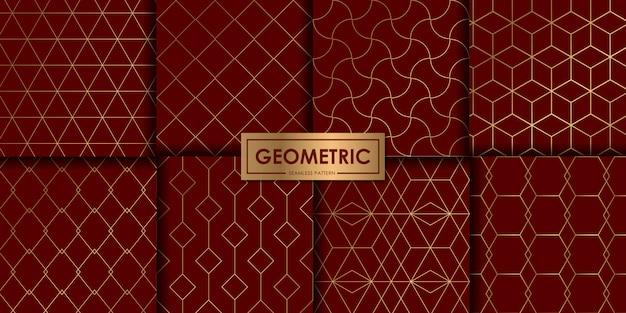 Luxuriöses geometrisches nahtloses musterset, abstrakter hintergrund, dekorative tapete.
