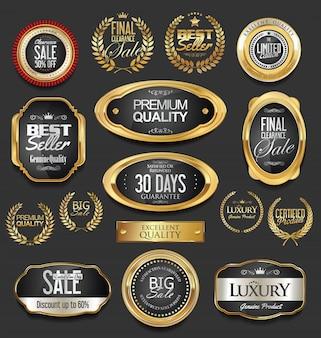 Luxuriöses goldenes design