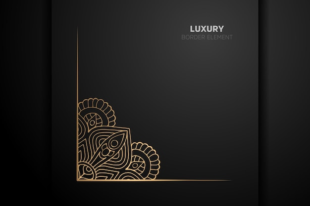 Luxuriöses goldrandelement mit ornament