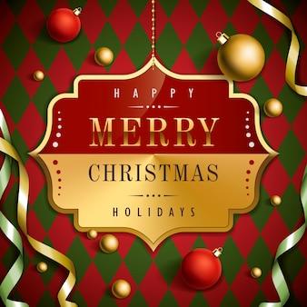 Luxuriöses hintergrunddesign der frohen weihnachten