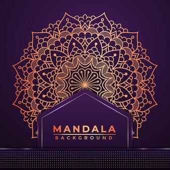 Luxuriöses islamisches dekoratives mandala-hintergrunddesign