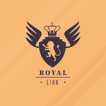 Luxuriöses löwenemblem