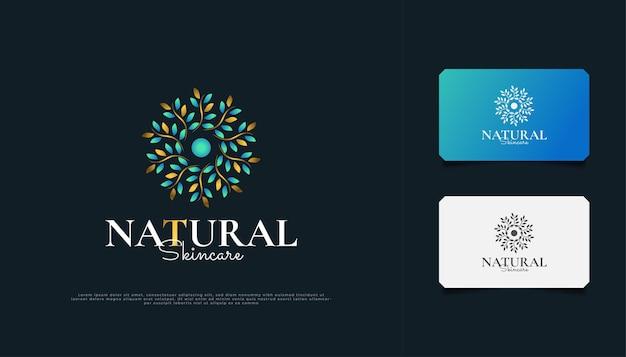 Luxuriöses natur-blumenblatt-verzierungs-logo. elegantes mandala