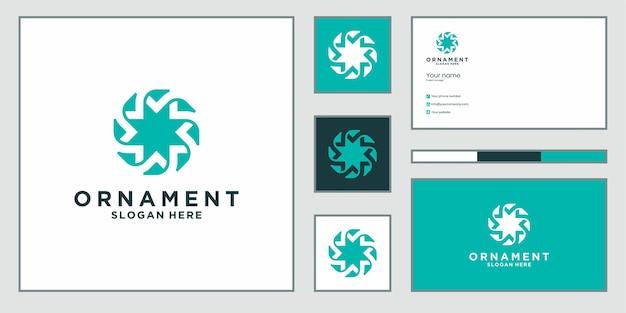 Luxuriöses ornament-design-logo, das inspiriert