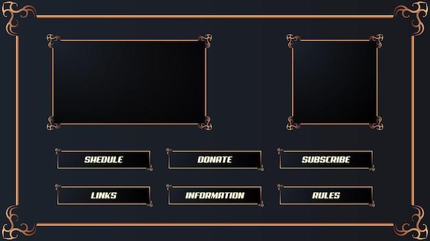 Luxuriöses twitch streamer-panel-overlay-set