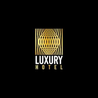 Luxuriöses und einfaches logo für hotelunterhaltung oder für luxusorte