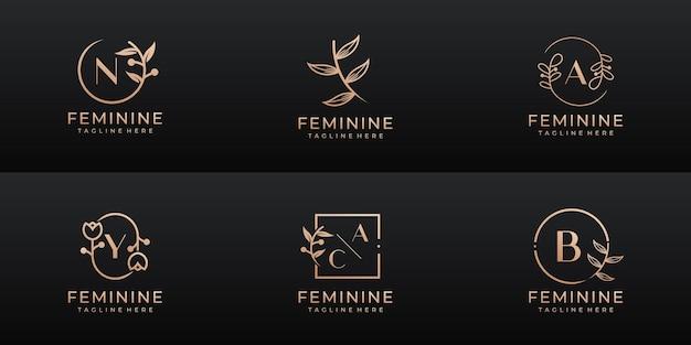 Luxuriöses weibliches hochzeitsbranding, korporativ