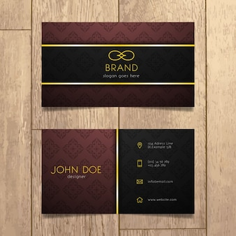 Luxury business card design