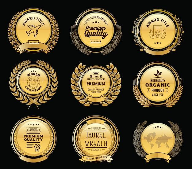 Luxury golden bades laurel kranz sammlung