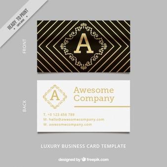 Luxury golden rhombus korporativen karte