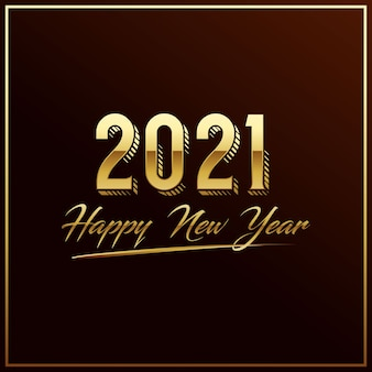 Luxus 2021 frohes neues jahr elegantes design