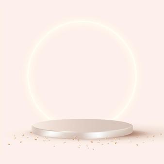 Luxus 3d-produkthintergrundvektor in roségold
