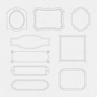 Luxus-abzeichen-vektor-set vintage dekorative schnörkel