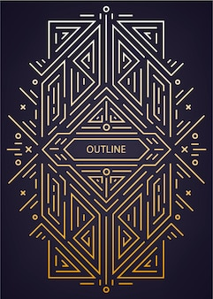 Luxus antike art deco geometrisch linear