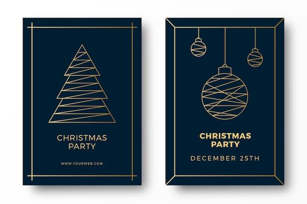 Luxus art deco weihnachtsfeier karten