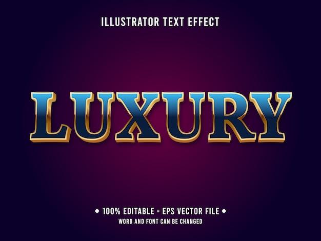 Luxus bearbeitbarer texteffekt im klassischen stil