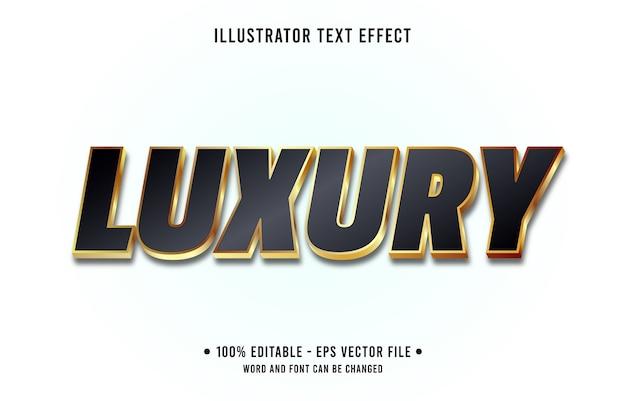 Luxus bearbeitbarer texteffekt modernen farbverlauf goldstil
