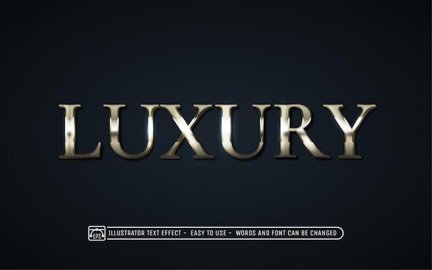 Luxus - bearbeitbarer texteffektstil