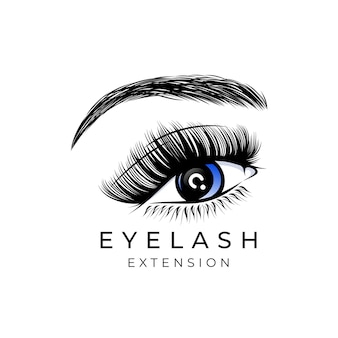Luxus beauty wimpern extension logo design