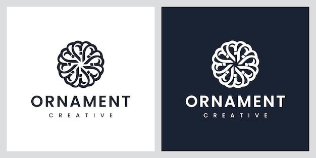 Luxus blumen ornament logo design inspiration